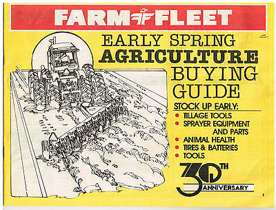 Vintage 1985 FARM & FLEET Early Spring Agriculture Buying Guide CATALOG 30th Anv