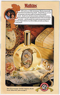125th Anniversary Catalog WATKINS 1993; Spices, Flavorings, MORE!!! 24 Pages