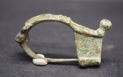 Nice Ancient Roman Bronze Brooch 2Nd - 3Rd Century Ad
