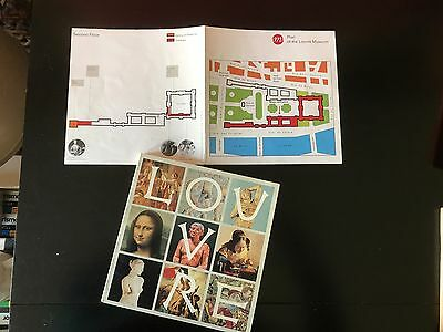 LOUVRE Museum Catalog 1977, by Pierre Quoniam with Museum Map.