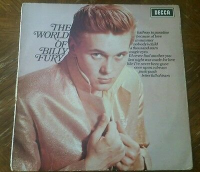 Billy Fury Rare Signed Autographed Lp 50S 60S British Rock N Roll Liverpool