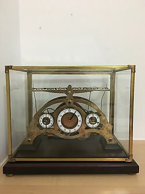 Superb Rare Fusee Congreve Rolling Ball Brass Clock Under Glass Dome/ Case.
