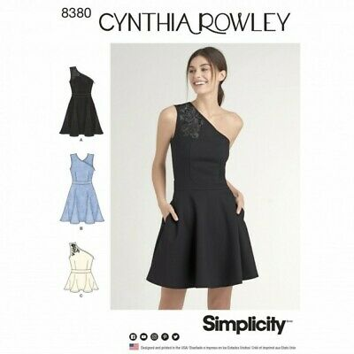 Misses Knit Dress or Top with Shoulder Variations Simplicity Sewing Pattern 8380