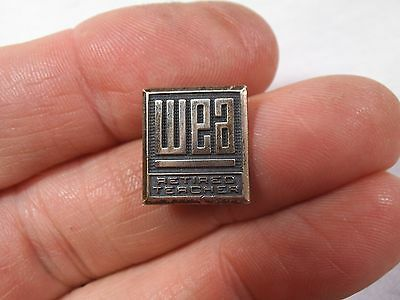 Vintage WA State Teacher's Association - WEA Retired Sterling Silver Pin