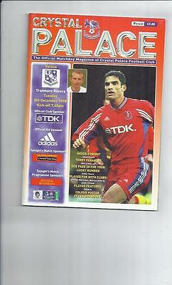 Crystal Palace v Tranmere Rovers Football Programme 1998/99