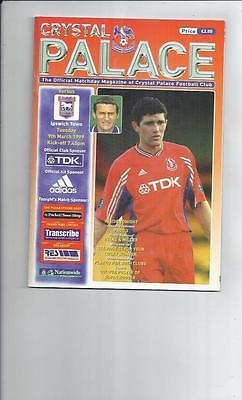 Crystal Palace v Ipswich Town Football Programme 1998/99