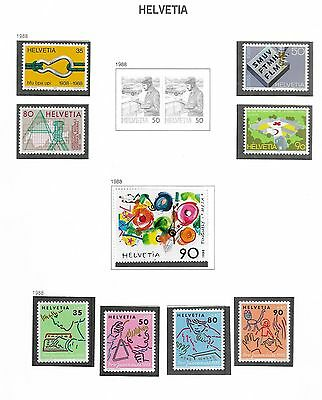 Switzerland Mint Stamps From The Year 1988 Selection Ref 154
