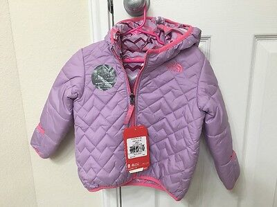 New!! The North Face Reversible Jacket Baby Girl Infant Size 18-24M