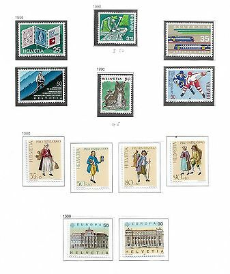 Switzerland Mint Stamps From The Year 1990 Selection Ref 156