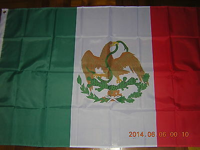 100% NEW reproduced flag Mexican Ensign Mexico 1823-1864, 1867-1893, 3ftX5ft