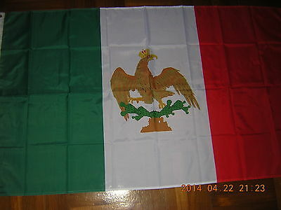 100% NEW reproduced flag Mexican Ensign Mexico 1821-1823, 3ftX5ft