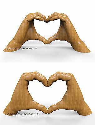 3D MODEL STL for CNC Router Engraver Carving Relief Artcam Aspire Heart 8452