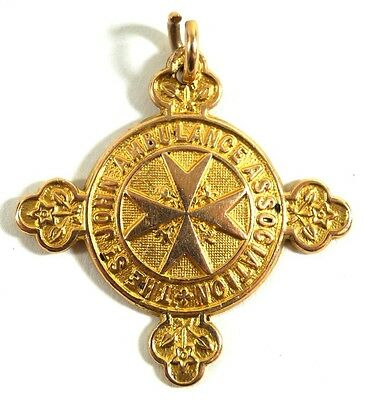 St John Ambulance 18CT SOLD GOLD MEDAL FULLY HALLMARKED