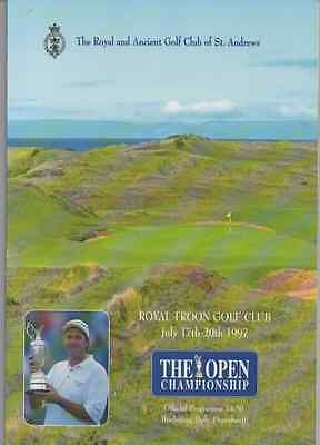 1997-126th OPEN CHAMPIONSHIP-LEONARD-USA @ROYAL TROON-OFFICIAL GOLF PROGRAMME