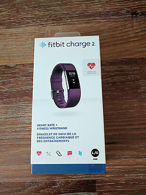Fitbit Charge 2 Fitness Tracker Large  Plum - Sealed Item