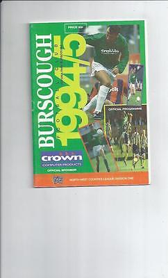 Burscough v Congleton Town FA Cup 2nd Replay Football Programme 1994/95