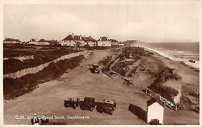 POSTCARD   DORSET   BOURNEMOUTH  SOUTHBOURNE   Cliff  and  Sands    RP