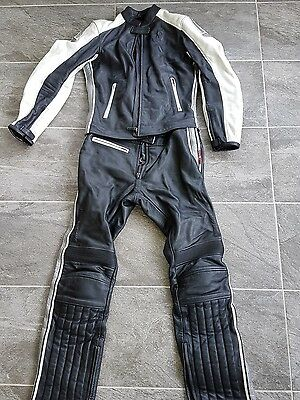 Hein gericke ladies 2 piece leather motorcycling suit size 10