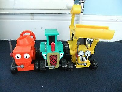 Bob the Builder friction toys lot Dizzy Scoop & Travis toys