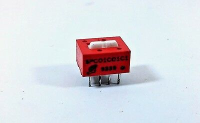 5 Pcs Switch 2 POS Pitch DIP 8 SPC01C01C1 Soldering ON/OFF Slide Sealed Raised