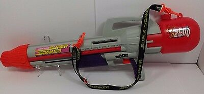 Vintage Super Soaker CPS 2500 Water Cannon Squirt Gun with Strap Working