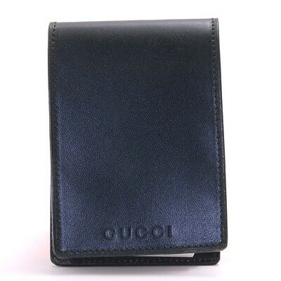 Authentic GUCCI leather Notepad  031・2265・0365・0 Memo Pad used in Japan