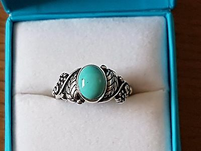 South Western 925 Silver Turquoise Ring size N *NEW*