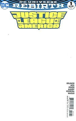 Justice League of America #1 Blank Variant NM Rebirth