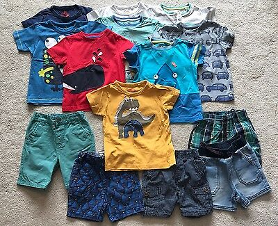 Boys 1.5-2 Years 18-24 Months Summer Clothes Bundle Shorts T-Shirts (Mostly Next