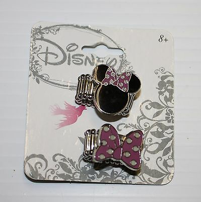 Disney Minnie Mouse Ears Bow Girls Adjustable Rings 3 4 5 6 7 8 9 10 11 12 NWT