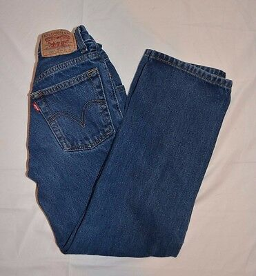 "Levi's 550 Boys Relaxed Fit Blue Jeans 10 Slim 23"" Waist x 24"" Inseam"
