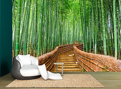 Forest Tropical Trees Bamboo Path Wall Mural Photo Wallpaper GIANT WALL DECCOR