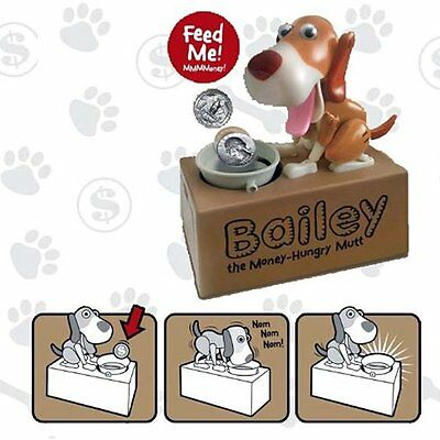 Dog Mechanical Piggy Bank Watch Him Eat Your Coin Teach Child Saving New Genuine
