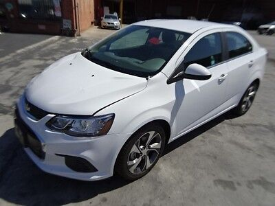 2017 Chevrolet Sonic Premium 2017 Chevrolet Sonic Premier Salvage Wrecked Repairable! Only 8 Miles! Wont Last