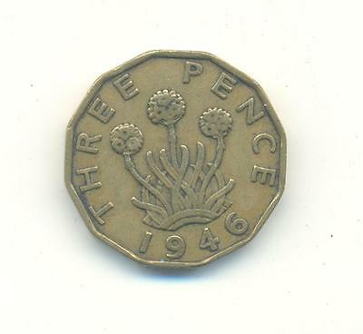 Rare.british.3.pence 1946.key Date.very Collectable.e.161