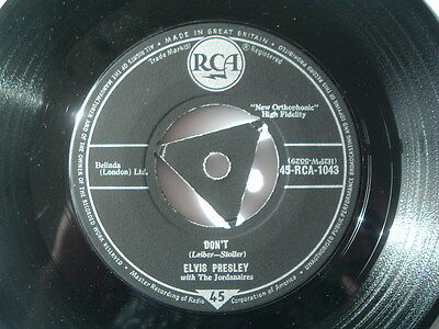 "Elvis Presley. Don't/i Beg Of You. Ex/ex. Original 7"" Rca Black Label."