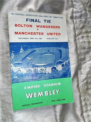 1958 Fa Cup Final Bolton Wanderers V Manchester United