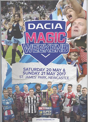 2017-Magic Weekend-20-21/5/17 @newcastle-Rugby League Programme-Good-Wigan--Hull