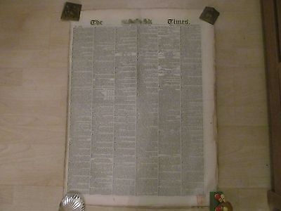 The Times Newspaper 1848 Monday July 3rd Good. Original newspaper.16 pages
