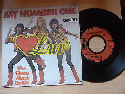 "7"" Single - LUV - My Number One - The Show Must Go On - 1980 Carrere-TOPerh."