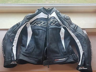 motorbike leather jacket rst 44 inch chest