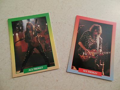 Ace Frehley (KISS) - 2 collector cards - complete band set - 1991 Rock Cards
