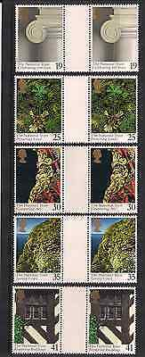 1995 Qeii The National Trust Commemorative Stamp Gutter Pairs Sg 1868 1872 Nmnh