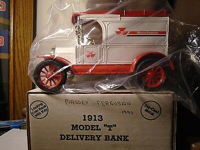 Massey Ferguson 1990  Ertl 1913 Ford Model T DeliveryTruck Bank Stock # 1348