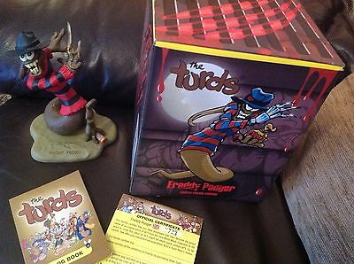 The Turds Figurines -  Freddy Pooger  With Box and Log Book