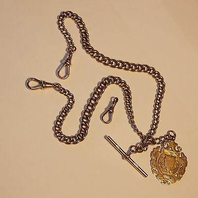 Rose Gold vintage watch chain circa 1888 hall marks