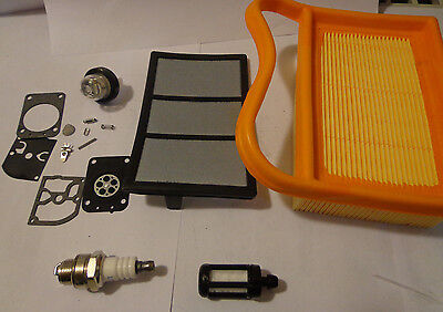 TUNE UP 4 STIHL TS 420 Concrete Saws FUEL/AIR FILTER PRIMER SPARK PLUG & RB-151