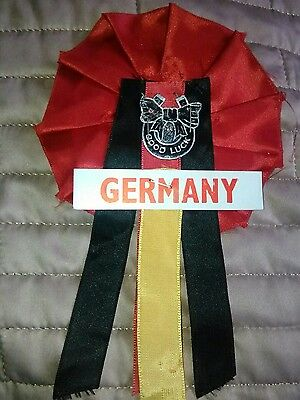 GERMANY FOOTBALL TEAM ROSETTE LATE 60's EARLY 70's NR MINT CONDITION