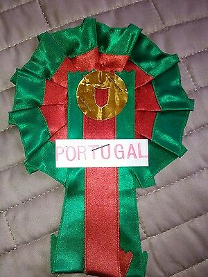 PORTUGAL FOOTBALL TEAM ROSETTE LATE 60's EARLY 70's NR MINT CONDITION