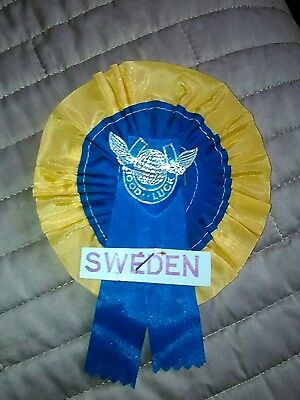 SWEEDON FOOTBALL TEAM ROSETTE LATE 60's EARLY 70's NR MINT CONDITION